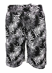 Ladies-Cotton-Shorts-Summer-Long-Plus-Big-Ex-Store-Elasticated-Waist-Palm-Beach