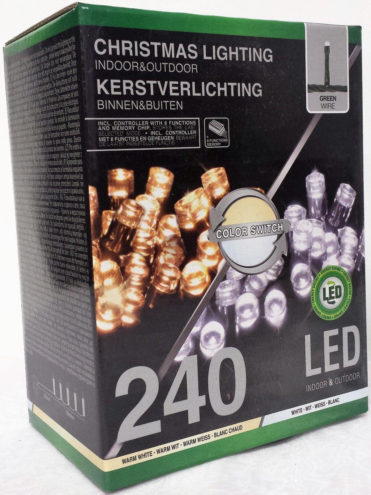 Lichterkette 240 LED Weiß & Kaltweiß Switch  Girlande Bunt  | Schön geformt