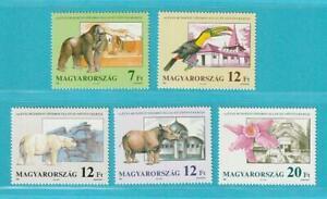 Ungarn-aus-1991-postfrisch-MiNr-4136-4140-Tiere-Pflanzen-Eisbaer-Orchideen