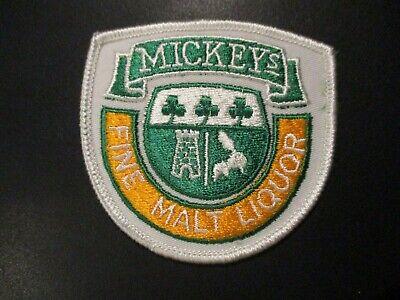 "MICKEYs FINE MALT LIQUOR Embroidered Patch-6x6/""."