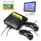 Clásico Retro TV Vídeo Juego Consola Con 500 Juegos 8 Bit 2 Mango Mando FC NES