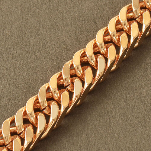 Bracelet dorée//plaqué Or jaune champagne pour homme neuve maille diverse