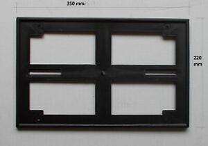 Support-Plaque-D-039-Immatriculation-Arriere-Plastique-Noir-Fiat-Divers-Modeles-A