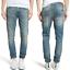 Nudie-Herren-Slim-Tapered-Fit-Roehren-Stretch-Jeans-Hose-Lean-Dean-Silver-Lake Indexbild 1