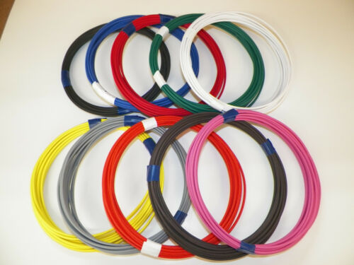 12 GXL 10 SOLID COLORS 25 FEET EACH 250 FEET TOTAL HIGH TEMP AUTOMOTIVE WIRE