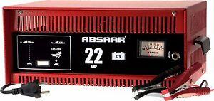 absaar batterie ladeger t 22 ampere 12 volt mit starthilfe. Black Bedroom Furniture Sets. Home Design Ideas