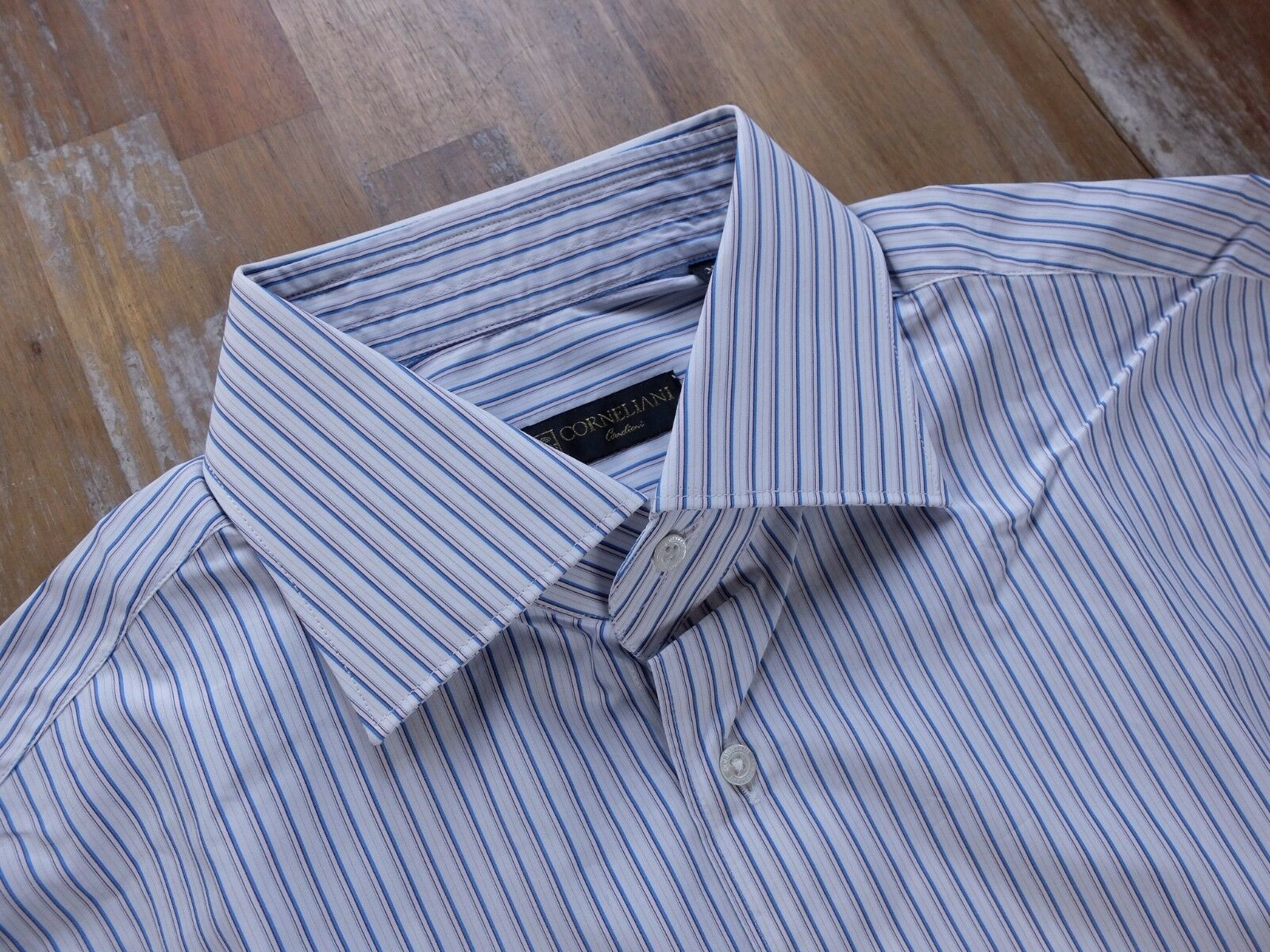 CORNELIANI striped cotton French cuffs dress shirt authentic - Größe 41 / 16 NWOT