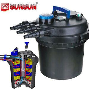 Pressurized bio pond filter w 18w uv sterilizer 5000 gal for Pressurised pond filter