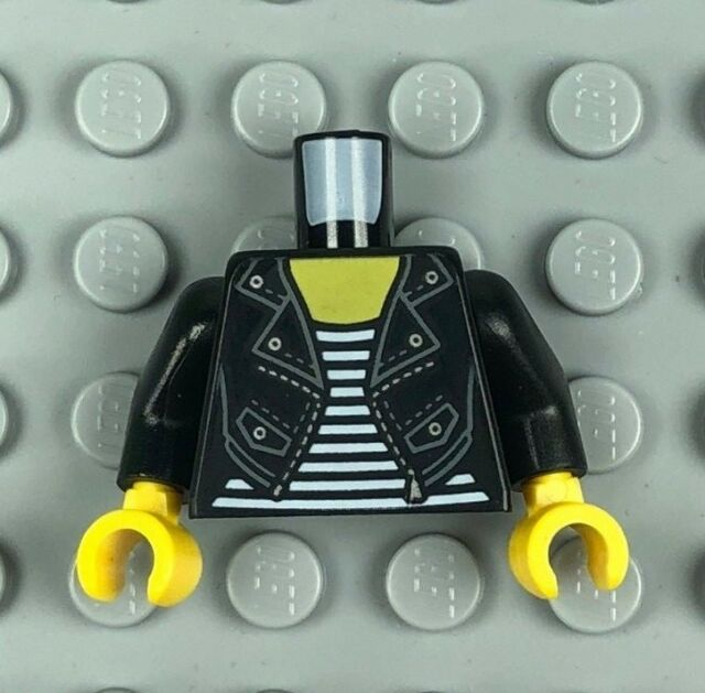 Lego 1 Cuerpo Torso Para Minifigura Reproductor De Manga Corta Negro 1 jugador