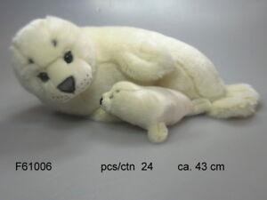 Seehund mit Baby ca. 43 cm groß von UNI TOYS NEU & OVP