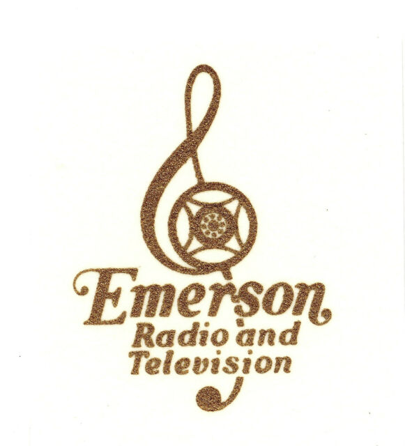 Emerson Cleft CATALIN Radio Decal, Also for Bakelite and Wood sets