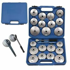 23 Pieces Aluminum Alloy Cup Type Oil Filter Cap Wrench Socket Removal Tool Set