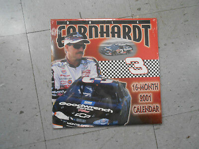 Fan Apparel & Souvenirs Able Dale Earnhardt Sealed 2001 16 Month Calendar Nascar Fine Craftsmanship