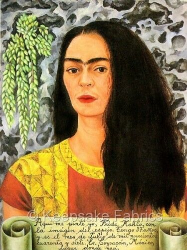 Frida Kahlo Portrait Quilt Block Multi Sizes FrEE ShiPPinG WoRld WiDE (9B)