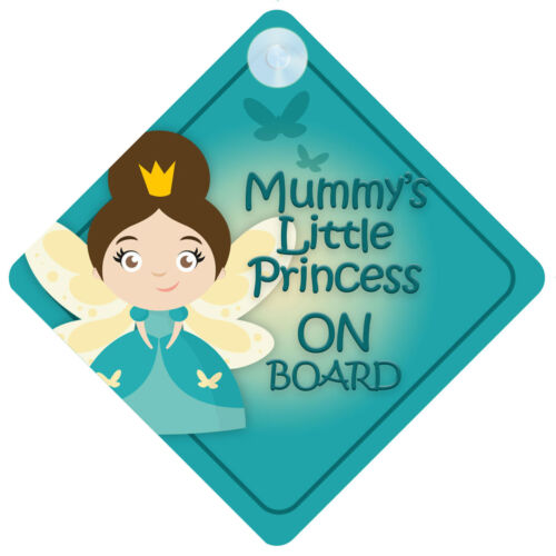 MLP015 Mummy/'s Little Princess On Board Car Sign New Baby//Child Gift//Present