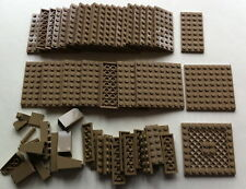 LEGO BRAND over 60 dark TAN pates & PARTS PLATES star wars ninjago HOBBIT