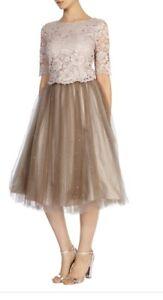 Boho Sz8 Dusky Vintage Wedding Selbessa Lace Embellished Top Nude Coast Pink 4C7qC