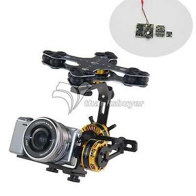 DYS 3 axis Brushless Gimbal Kit+Motor AlexMos BGC2.4 Controller f/ Sony NEX ILDC