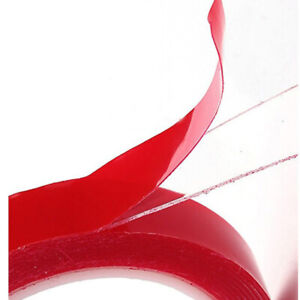 Strong-Permanent-Double-Sided-Sticky-Adhesive-Glue-Tape-With-Red-Liner-3m-Repair