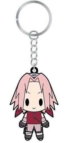 Naruto Shippuuden Rubber Key Chain Sakura Licensed Anime NEW