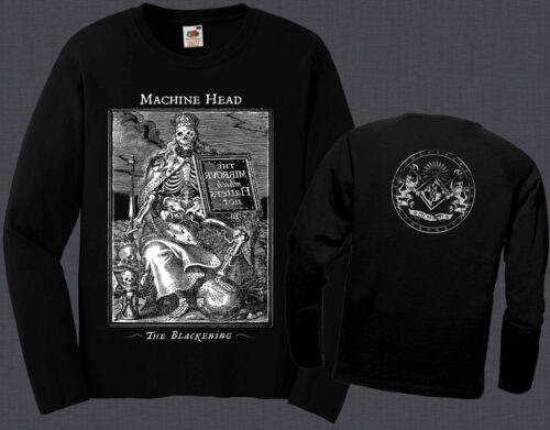 MACHINE HEAD-The Blackening heavy metal band,T-shirt long sleeve-sizes:S to XXL