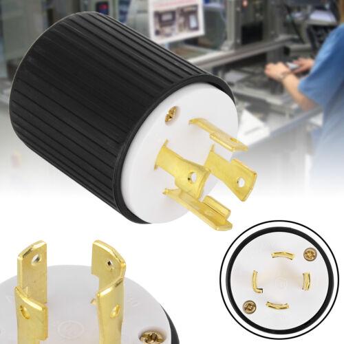L14-30 30A125//250 Volt 3 Pole 4 Wire Grounding Lock Locking Generator Male Plug
