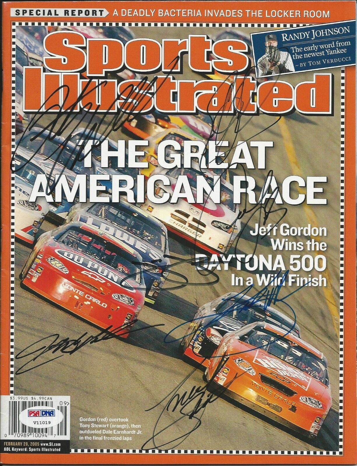 Sports Illistrated: The Great American Race signed PSA/DNA #V11019