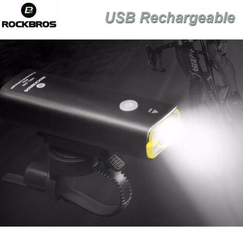 RockBros Waterproof Bike Bicycle Light Cycling Headlight Flashlight  USB Night