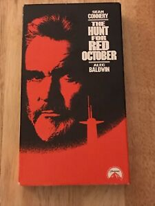 The Hunt For Red October 1990 Vhs Tape Ebay