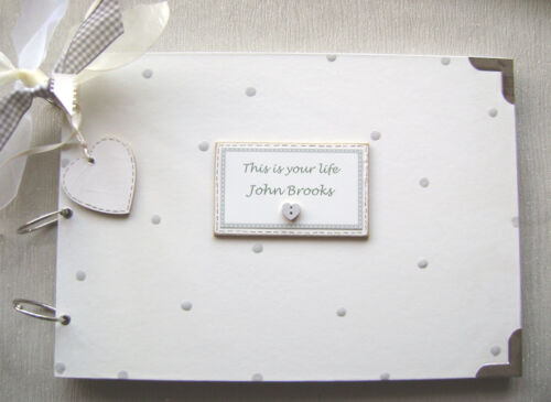 PERSONALISED this is your life .SIZE PHOTO ALBUM//SCRAPBOOK//MEMORY BOOK A4 SIZE