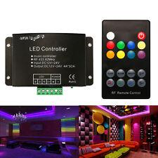 18key RGB LED Light Strip IR Sensor Controller Sound Music Remote DC 12V-24V