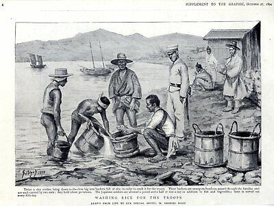 Japaner Auf Korea Anti-japanese War Japan Vs China Korea-krieg Original Von 1894