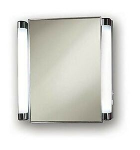 Jensen 455fl Lighted Medicine Cabinet Stainless Steel 20 Inch By 22 Inch Ebay