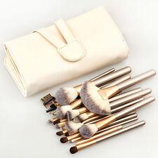 Pro 24Pcs Superior Soft Cosmetic Makeup Brush Set Brushes Kit Pouch Bag Case US