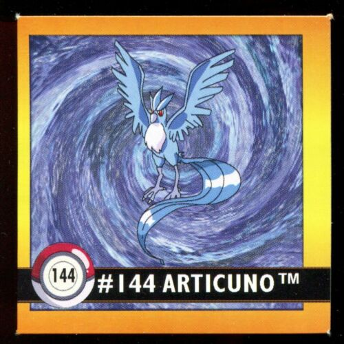 POKEMON STICKER ENGLISH CARD 50X50 1998 NORMAL N°  144 ARTIKODIN ARTICUNO
