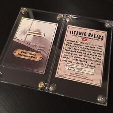 White Star Line RMS Titanic Shipwreck Deck Chair Cane Artifact Trading Card
