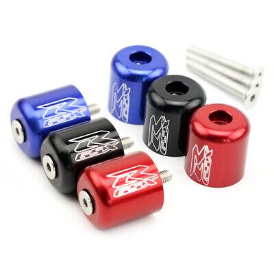 Fits GSX-R 600 GSX-R 750 GSX-R 1000 K6 K8 K9 CNC Aluminum Handlebar Grip Bar End