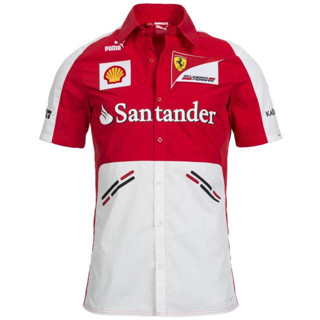 0d99633ec2ba6 PUMA Escuderia Ferrari Equipo Camisa Fórmula 1 761243-01 F1 Tee XS S M L XL  2XL