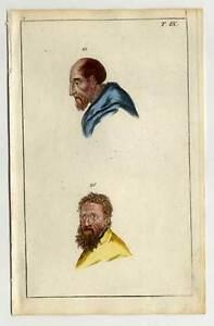 Physiognomie-Physiognomik-Anatomie-Medizin-kol-Kupferstich-1800