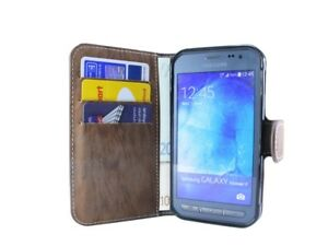 Style-Livre-Telephone-Portable-Housse-Etui-en-Braun-pour-Samsung-Galaxy-Xcover-3