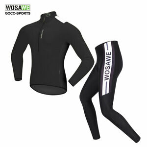 WOSAWE-Mens-MTB-Bike-Bicycle-Cycling-Jersey-Pants-Set-Quick-dry-Long-Sleeve-Suit