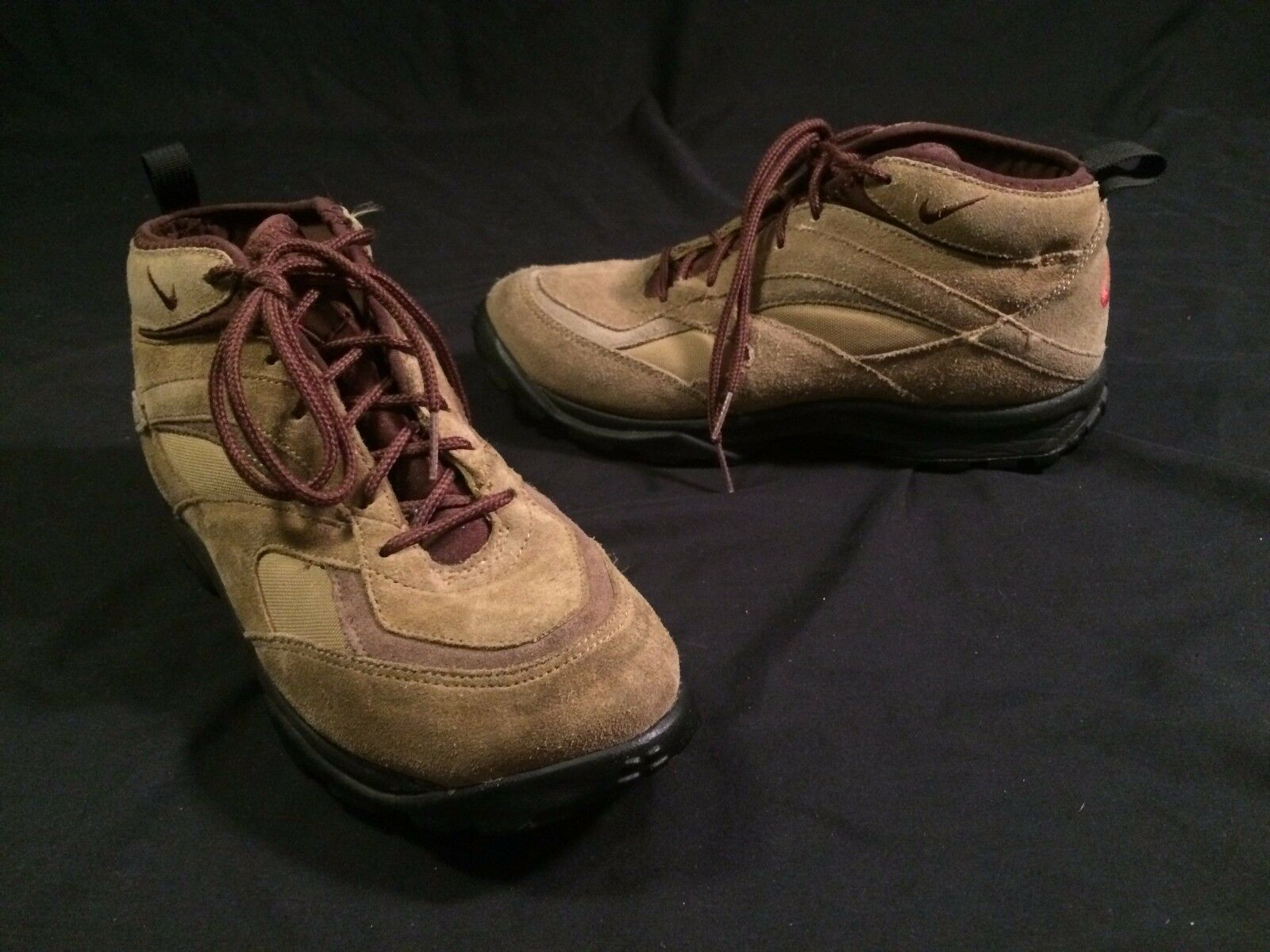 VTG VTG VTG NIKE HIKING BOOTS MENS SIZE 8.5 BROWN BLACK TRAIL CLIMBER 80'S 1980'S ad5343