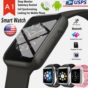 Details about Bluetooth Smart Watch w/Camera Waterproof Phone Mate for  Android Samsung iPhone