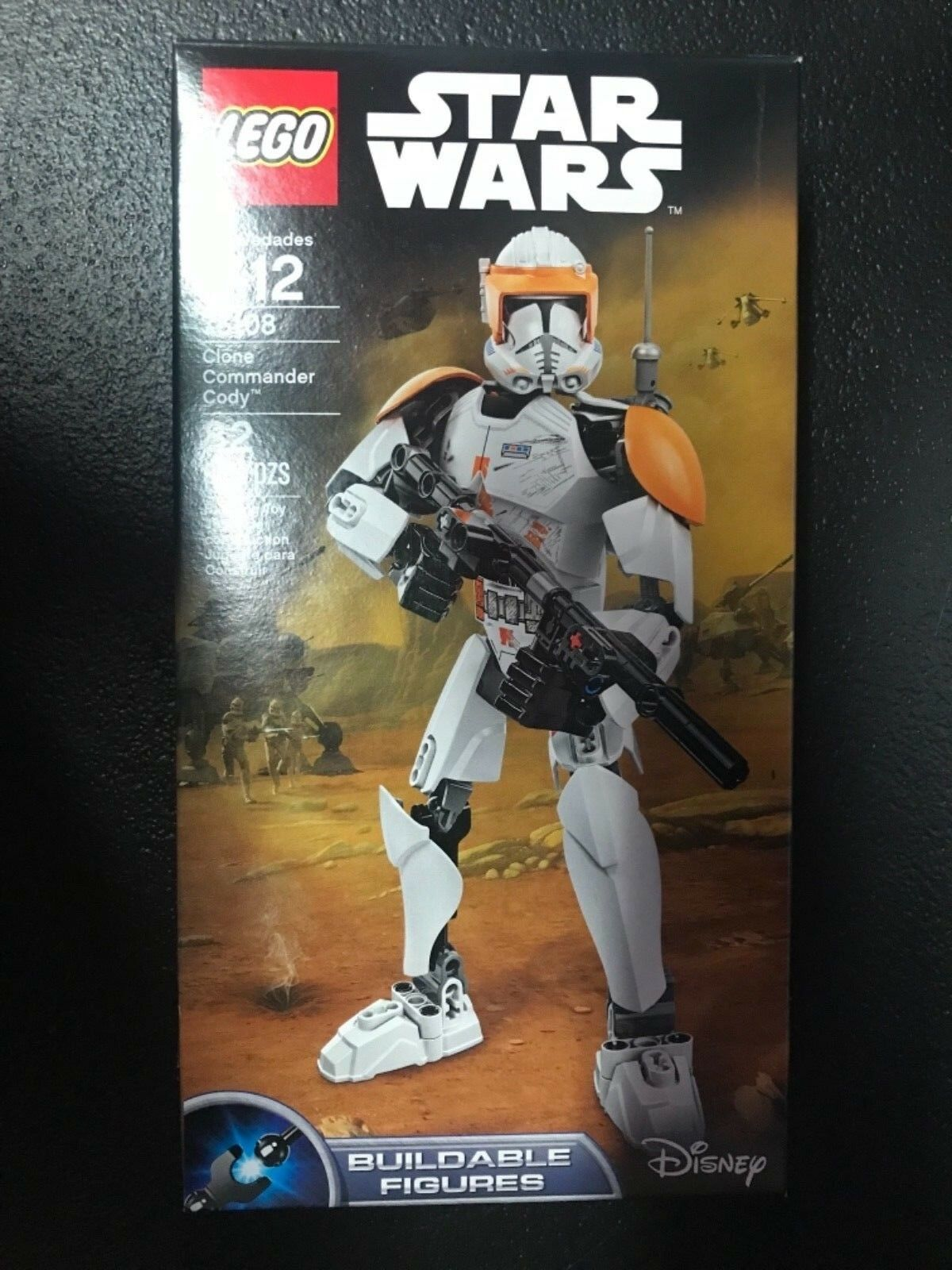 LEGO 75108 Star Wars Clone Commander Cody Buildable Buildable Buildable Figure Rare fe93d7