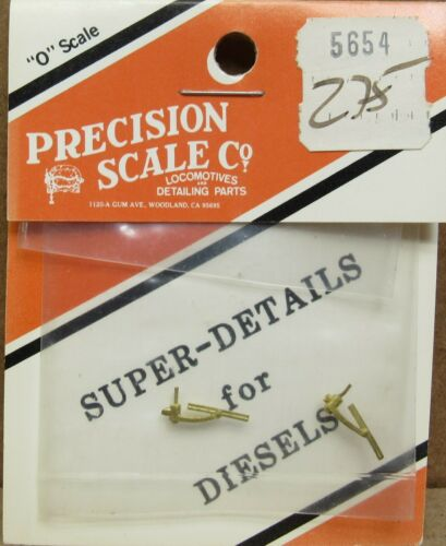 2 *BRASS* O-Scale NOS Precision Scale 5654 Diesel Engine Windshield Wipers