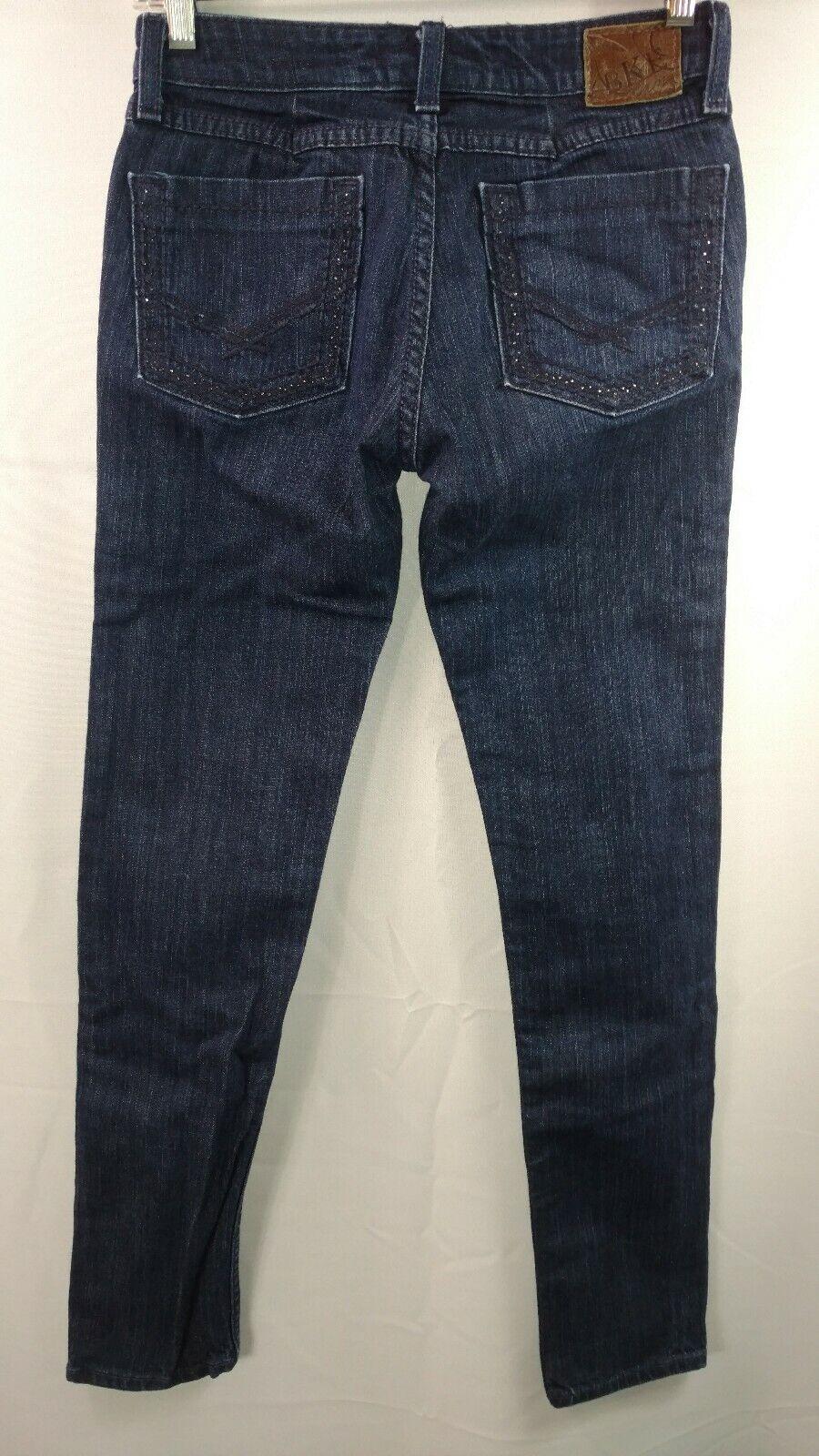 BKE Brooke Skinny Stretch Women's 27 x31 1 2 Dark bluee Denim Jeans Casual Pants
