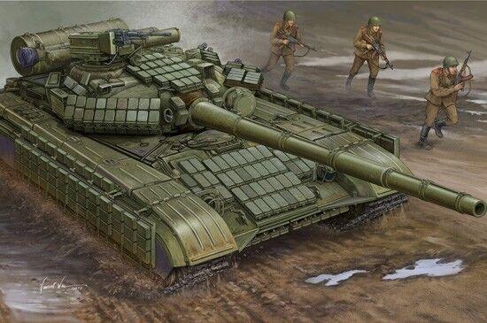 Soviet T-64av Mod.1984 Tank 1 35 Plastic Model Kit TRUMPETER   garanti
