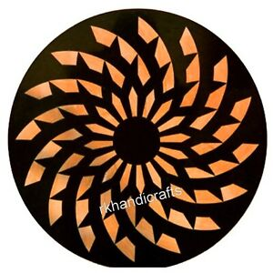 18 Inches Round Shape Marble Patio Table Inlay Coffee Table with Marquetry Art