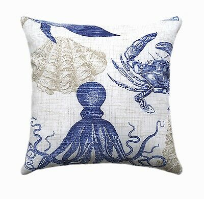 Richloom Sea Life Marine Nautical Decorative Outdoor Throw Pillow
