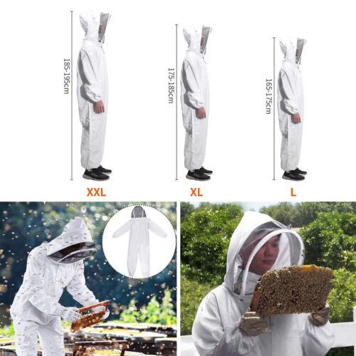 Beekeeping Suit Thicken Coat Bee Honey Keeping Equipment Veil Tool Set White XL